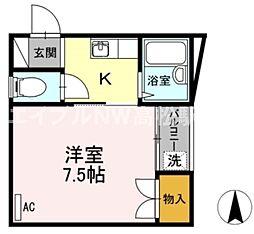 香川県高松市太田上町の賃貸アパートの間取り