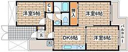 兵庫県神戸市長田区宮丘町1丁目の賃貸マンションの間取り