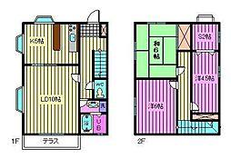 [テラスハウス] 埼玉県さいたま市南区根岸5丁目 の賃貸【埼玉県 / さいたま市南区】の間取り