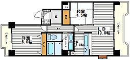 メゾンドール道野[8階]の間取り