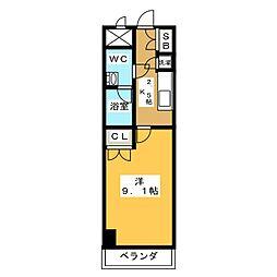 スクエア名駅南[3階]の間取り