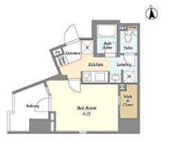 東京メトロ日比谷線 仲御徒町駅 徒歩7分の賃貸マンション 2階1Kの間取り