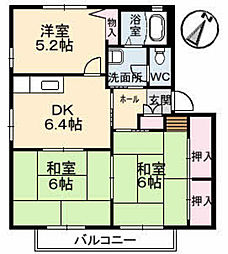 フローラル 福木[2階]の間取り