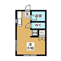 大神荘[2階]の間取り