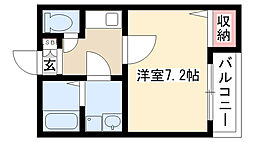 クレフラスト更屋敷II[205号室]の間取り
