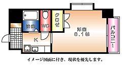 京橋森野ビル--[701号室]の間取り