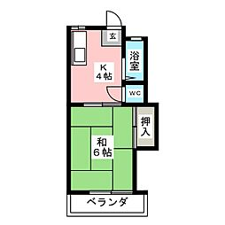 ハイツ須崎[2階]の間取り