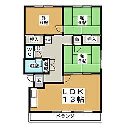 ヴィラ伊藤[4階]の間取り