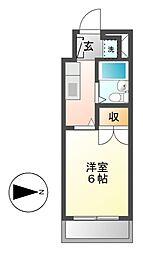 クレストステージ平安[3階]の間取り