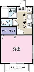 コーポNAMIKI[103号室]の間取り
