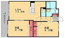 第3元木ビル[3階]の間取り