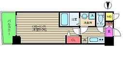 アドバンス西梅田[3階]の間取り