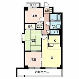 ベルファーレ ヤブウチ[4階]の間取り