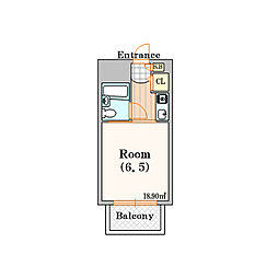 シャンテジョイフル[4階]の間取り
