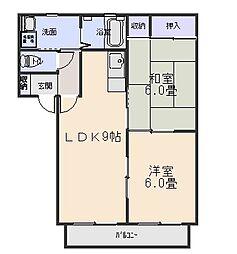 スターハイツA[2階]の間取り