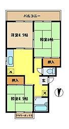埼玉県さいたま市桜区大字白鍬の賃貸アパートの間取り