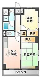 KFマンション[8階]の間取り