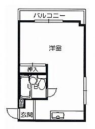 エスポワール城南寺[5階]の間取り