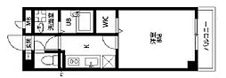 アンプルールフェールバレルコート[3階]の間取り