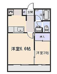 マンションパークハイム[3階]の間取り