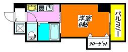 ラグゼ・布施 405号室[4階]の間取り