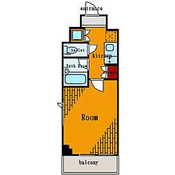 ルーブル大島[2階]の間取り