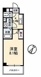 JRBハイツ湯田[A201号室]の間取り