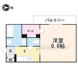 大阪モノレール彩都線 阪大病院前駅 徒歩7分の賃貸アパート 2階1Kの間取り