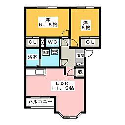 L・Shatea[2階]の間取り