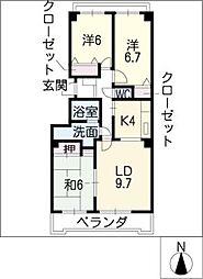 ラ・ヴィレット城屋敷[3階]の間取り