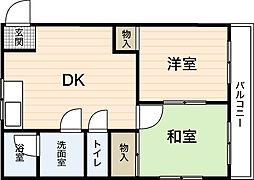 中部ビル[2階]の間取り