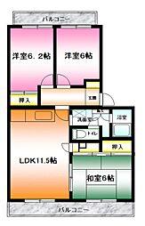 ソレイユ湘南[3階]の間取り