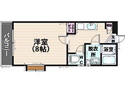 ピュア平尾参番館[402号室]の間取り