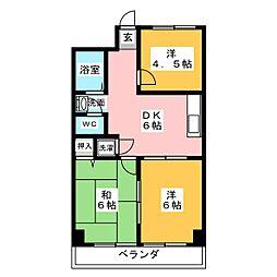 コーポ浅井[2階]の間取り