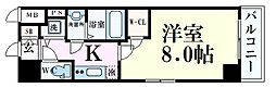 JR東海道・山陽本線 神戸駅 徒歩8分の賃貸マンション 2階1Kの間取り