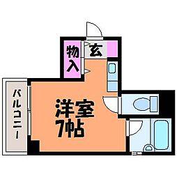 愛媛県松山市大手町2丁目の賃貸マンションの間取り