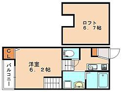 仮)シャレオ井尻Ⅱ[2階]の間取り