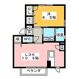 コーポFUJI V[2階]の間取り