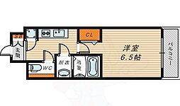 京阪本線 京橋駅 徒歩9分の賃貸マンション 4階1Kの間取り