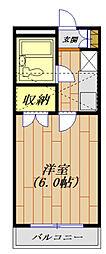 ジュネパレス平塚第11[205号室号室]の間取り