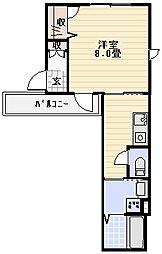シャンティU西新井[202号室]の間取り