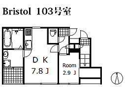 Bristol[103号室]の間取り