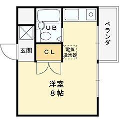 グランディール姫島[103号室]の間取り