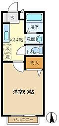 ロベリアA 204[2階]の間取り