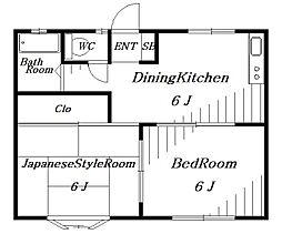 ロイヤルツインA[1階]の間取り