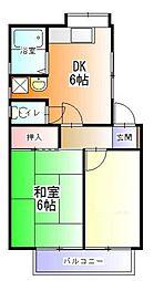 神奈川県横浜市磯子区中原4丁目の賃貸アパートの間取り