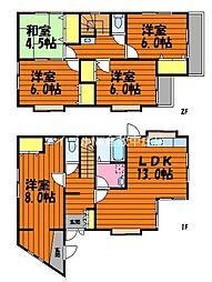 [一戸建] 岡山県倉敷市新田 の賃貸【/】の間取り