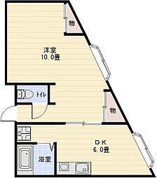 エステートヨシマン2[3階]の間取り