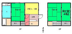 [一戸建] 香川県高松市観光町 の賃貸【/】の間取り