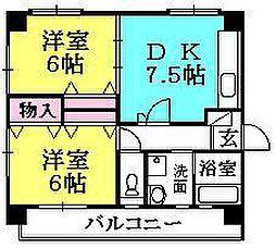 さくら夙川[3-A号室]の間取り